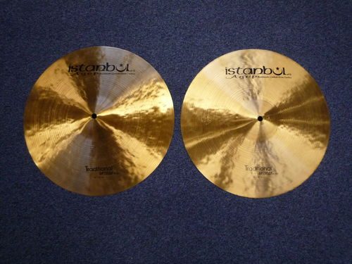 "16"" Istanbul Agop Traditional Hi Hat, 1334 and 1175 grams"