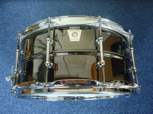 Black Beauty Brass Shell Snare Drums LB417T, from 2005