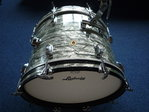 "1969 Ludwig bass drum 20"" x 14"", sky blue pearl finish"