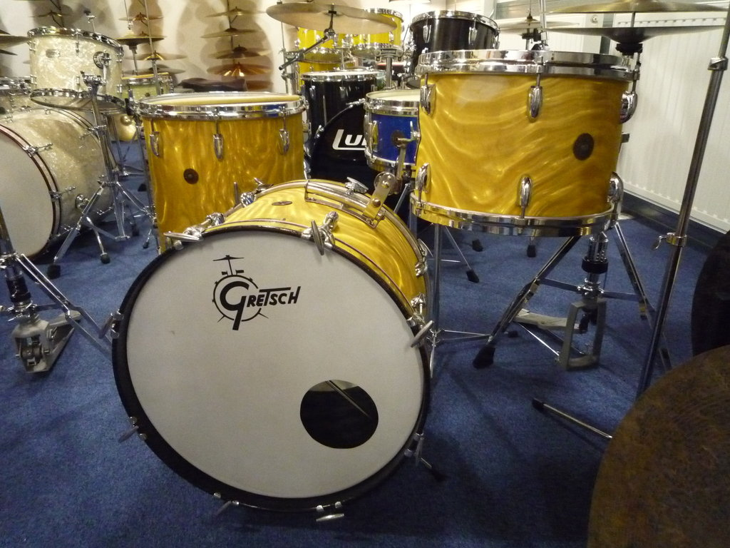 1960 S Gretsch Round Badge 6 Ply Jazz Drumset 20 Quot 13 Quot 16