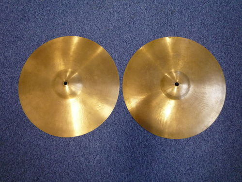 "14"" Paiste 602 Hi-Hat Pre-Serial, 1960's, 854 and 841 grams"