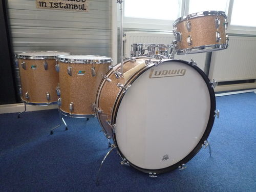"1971 Ludwig drumset 26""-13""-16""-18"" champagne sparkle, MINT!"