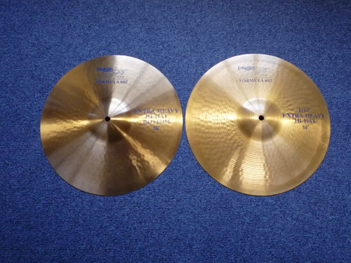"14"" Paiste 602 Extra Heavy Hi-Hat, 1280 - 1250 grams, from 1986"