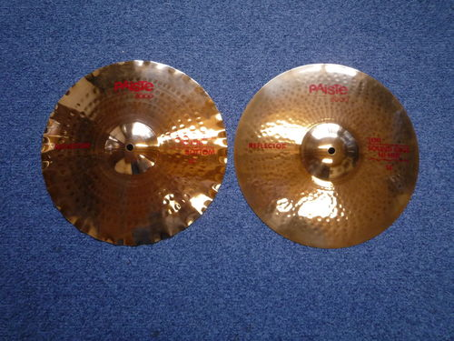 "14"" Paiste 3000 Sound Edge Reflector Hi-Hat cymbals set from 1990"
