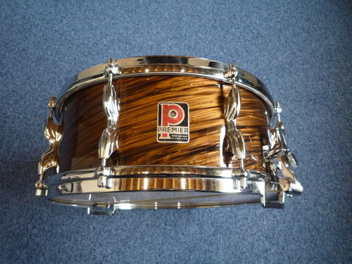 "Premier Royal Ace snare Mahogany Duroplastic 14"" x 5,5"", from 1950's"