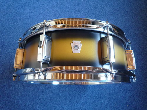 "Ludwig LS654XXU2 Club Date Vintage 14"" x 5"" Snare Drum - Black/Gold Duco"