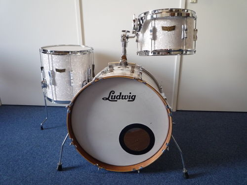 "Ludwig Club Date SE Drumset  20""-14""-12"", white marine pearl"