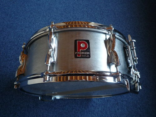 "Premier Hi-fi Brushed COA snare drum 14"" x 5,5"", from 1970's"