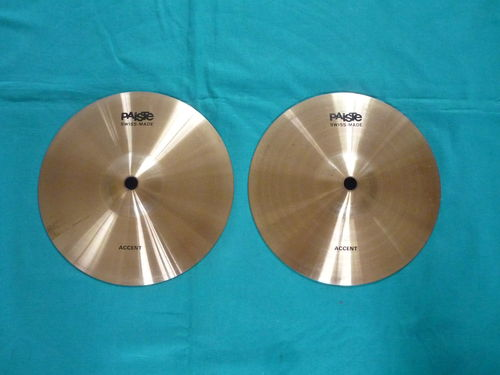 "8"" Paiste Accent Effect cymbals"