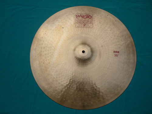 "20"" Paiste 2002 Ride red logo"