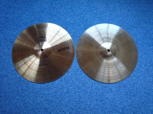 "14"" Paiste 2002 Heavy Hi-Hat ROCK, black lago from 1981"