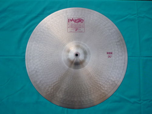 "20"" Paiste 2002 Ride red logo, cymbal"