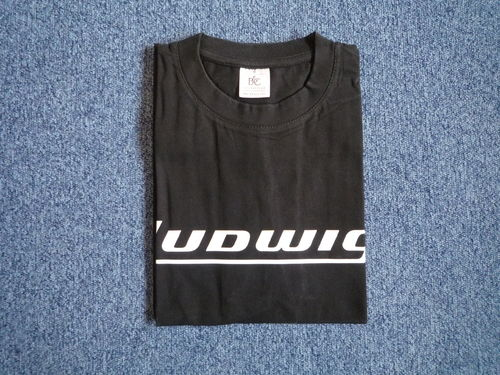Ludwig Block Logo T-Shirts-M-L-XL Black