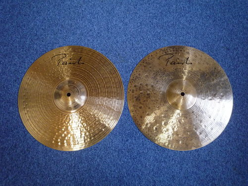 "14"" Paiste Signature Dark Energy Mark 1 hi-hat 1364 - 918 grams from 2014"