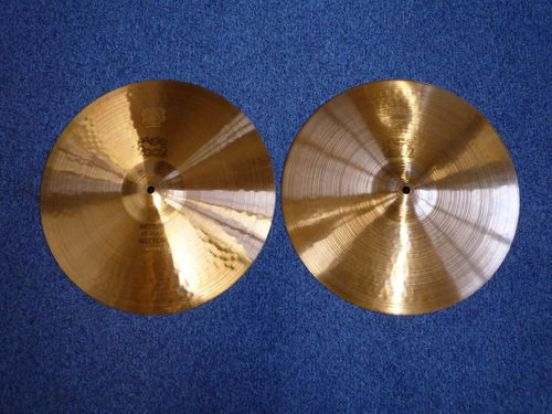 "15"" Paiste 2002 Hi-Hat black logo, from 1980"