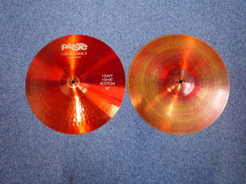 "14"" Paiste Color Sound 5 HeavyHi-Hat, from 1985"