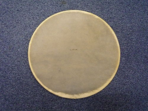 "24"" bass drum Litik Calf skin Pre-Tucked on Litik Easy Tuck Hoop"