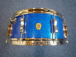 "1965 Ludwig ""Classic"" snare drum 14"" x 5,5"" Blue Sparkle"
