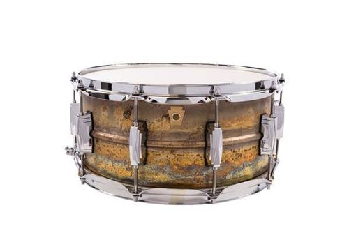 "Ludwig Raw Brass LB464R snare 14"" x 6,5"" Raw Patina"