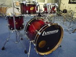 "Ludwig Accent CS Custom Elite Fusion Glitter Drumset, 22""-10""-12""-14""+ snare"