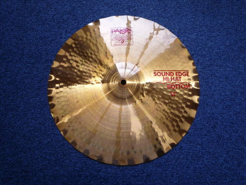 "14"" Paiste 2002 Bottom Sound Edge Hi-Hat red logo, 1060 grams from 1983"