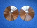 "14"" Paiste 505 Medium Hi-Hat black logo pre-serial, 765 and 713 grams"