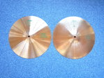"14"" Paiste 505 Heavy Hi-Hat green logo, 1092 and 944 grams from 1985"
