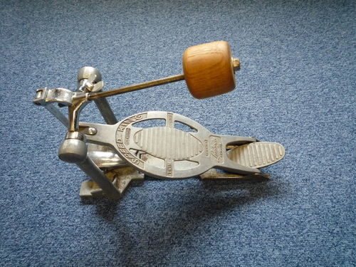 1960's Ludwig Speedking bass drum Pedal, wooden beater