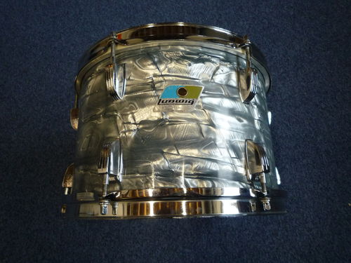 "Ludwig Tom 3-ply 12"" x 8"" from 1974, Sky Blue Pearl"
