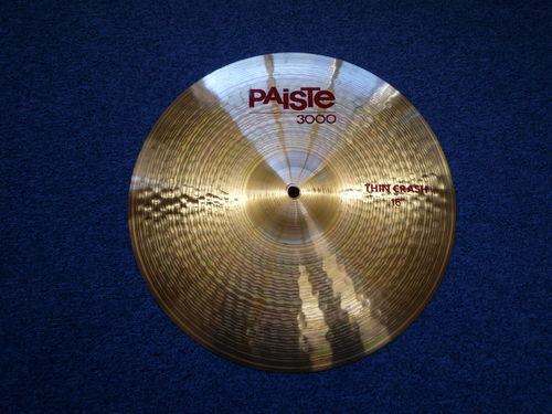 "16"" Paiste 3000 Thin Crash from 1989, 1140 grams"