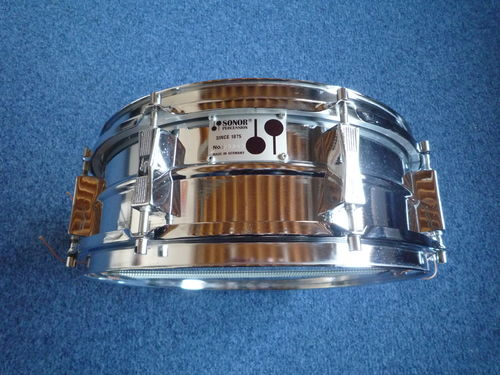 "Sonor metal snare 14"" x 5"" from 1970's"