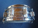 "1960's Rogers Dynasonic Chrome Over Brass Snare Drum, 14"" x 5"""