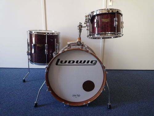 "Ludwig Club Date SE Drum Kit 18""-14""-12"", burgundy sparkle"