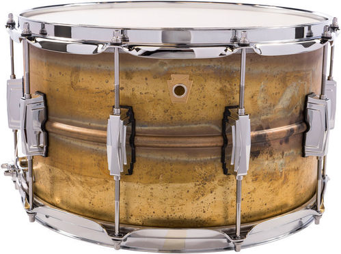 "Ludwig Raw Brass LB484R snare 14"" x 8"" Raw Patina"