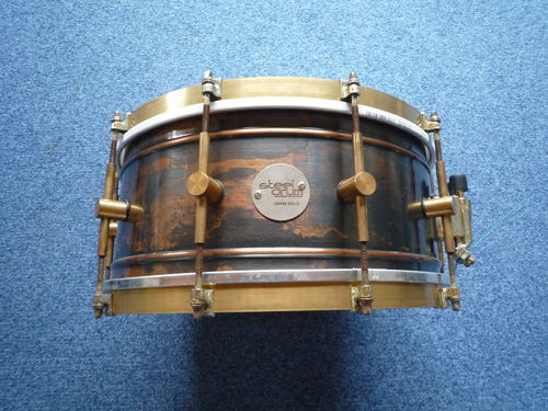 "SteelDrum Copper Snare Drum 14"" x 6,5"", vintage raw finish"