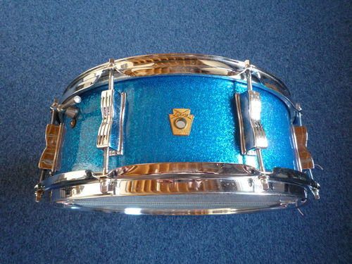 "1966 Ludwig ""Jazz Festival"" snare drum 14"" x 5"", blue sparkle"