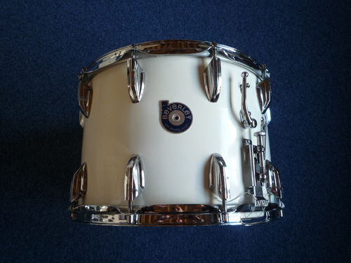 "Beverley snare drum 14"" x 10"", African Mahogany shell, white cortex wrap, 1970's"