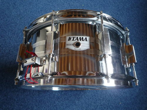 "Tama Rockstar Pro metal snare 14"" x 6,5"", 10 lugs, Made in Japan"