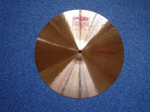 "18"" Paiste 2002 Heavy Crash red logo, 1620 grams, from 1996"
