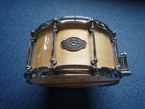 "Premier Modern Classic 14"" x 7"" Maple Natural snare drum"