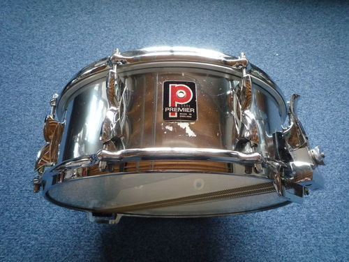 "1970's Premier 2000 snare drum, chrome over aluminium 14"" x 5,5"""