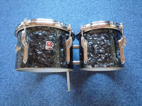 "Premier Bongos 8"" and 6"", black diamond pearl finish from 1960's"