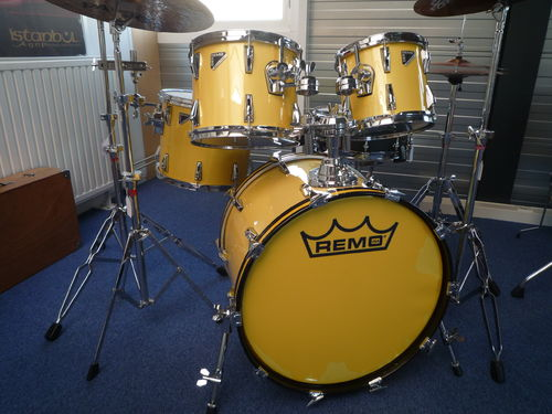 "Remo MasterEdge drumset ME 2425 RL Yellow 22""-10""-12""-14"""