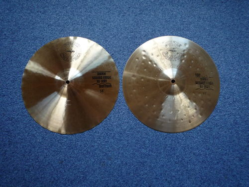 "14"" Paiste Sound Creation Dark Sound Edge Hi-Hat from 1983"