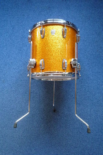 "Ludwig Classic Maple 15"" x 14"" Floor Tom, gold sparkle from 2008"