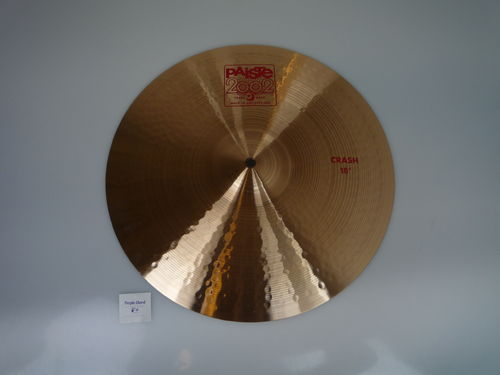 "18"" Paiste 2002 Crash red logo, 1454 grams from 2017, demo mint"
