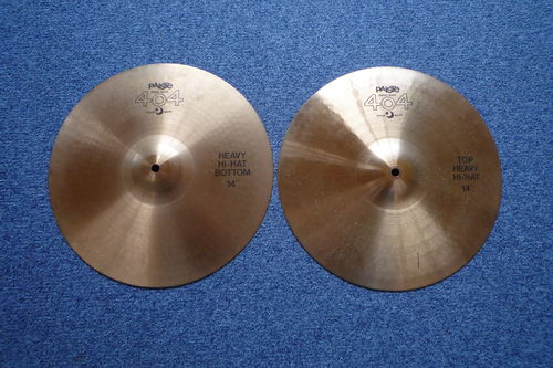 "14"" Paiste 404 Heavy Hi-Hat, 953 abd 813 grams from 1985"
