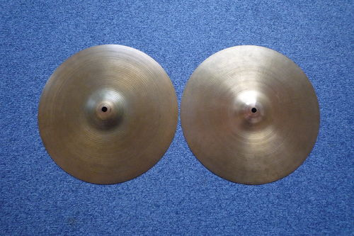 "14"" Zildjian Avedis 1970's hi-hat, 1255 - 1186 grams, Hollow logo"