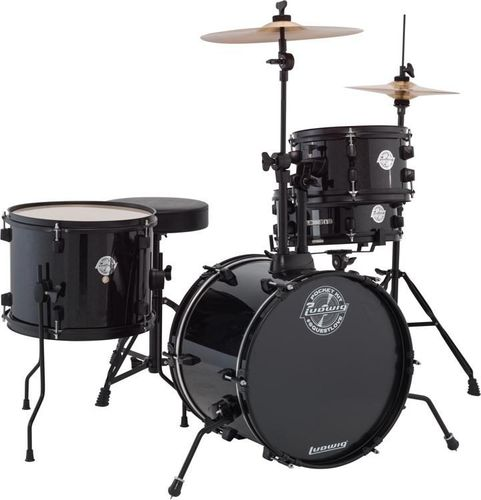 Ludwig Questlove Pocket Kit Drum Set - Black Sparkle - LC178X016