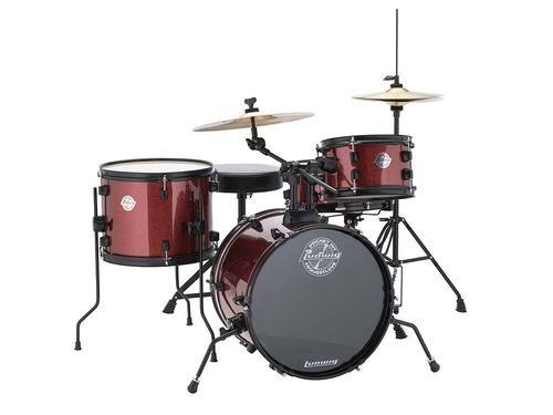 Ludwig Questlove Pocket Kit Drum Set - Red Wine Sparkle - LC178X025